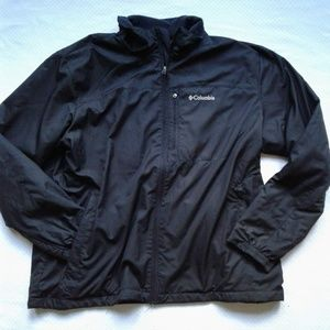 Columbia Windbreaker Jacket Full Zip Fleece Lined